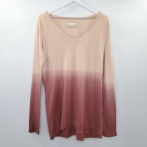 Anthro Pure + Good Ombre Dip Dye Tunic Sweater